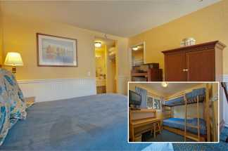 Monterey Bay Lodge - Family Suite with queen bed and twin bunk bed